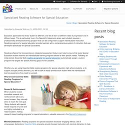 Specialized Reading Software for Special Education