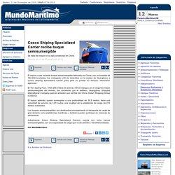 Cosco Shiping Specialized Carrier recibe buque semisumergible