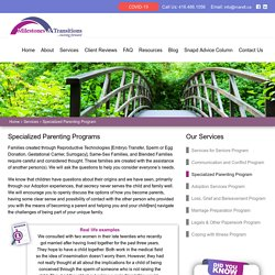 Specialized Parenting Programs