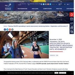 D.E.J.E.P.S. spécialité perfectionnement sportif mention triathlon