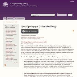 Specialpedagogen (Helena Wallberg)