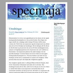 Specialpedagogen Maja