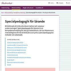 Specialpedagogik för lärande - för alla grundskollärare