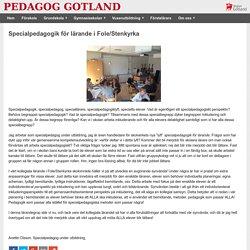 Specialpedagogik för lärande i Fole/Stenkyrka