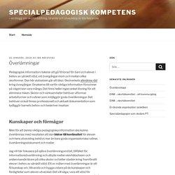 Överlämningar - Specialpedagogisk kompetens