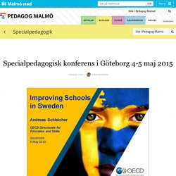 Specialpedagogisk konferens i Göteborg 4-5 maj 2015