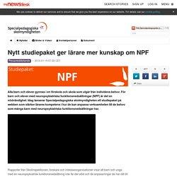 Nytt studiepaket ger lärare mer kunskap om NPF - Specialpedagogiska skolmyndigheten