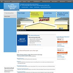 Providence hotel deals | Hotel specials at the Fairfield Inn & Suites Worcester Auburn