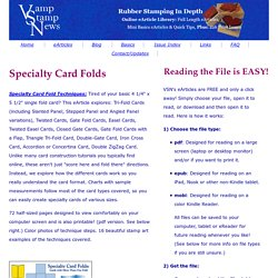 VSN Specialty Card Folds eArticle