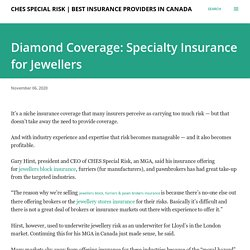 Diamond Coverage: Specialty Insurance for Jewellers