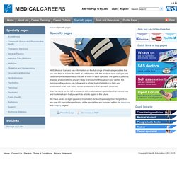 Training for a career as a specialty doctor in the NHS