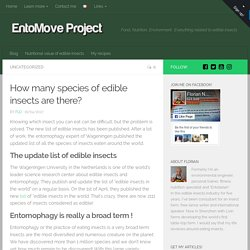 How many species of edible insects are there? - EntoMove Project