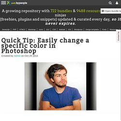 Quick Tip: Easily change a specific color in Photoshop