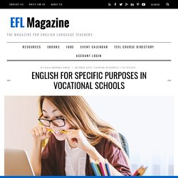 English for Specific Purposes in Vocational Schools