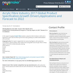 Acrylic Fibre Industry 2017 Global Product Specification,Growth Drivers,Applications and Forecast to 2022