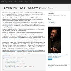 Specification-Driven Development