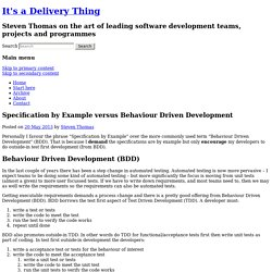 Specification by Example versus Behaviour Driven Development