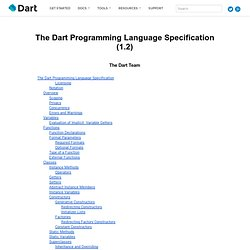 Dart Language Specification (0.10)