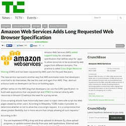 Amazon Web Services Adds Long Requested Web Browser Specification