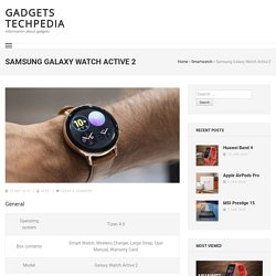 Samsung Galaxy Watch Active 2 Specifications, Features, Price in Nepal