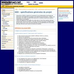 GED - spécifications générales du projet