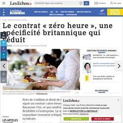 Le contrat «zéro heure», une spécificité britannique qui séduit, Directions ressources humaines