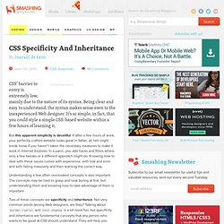 CSS Specificity And Inheritance