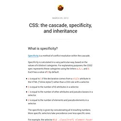 CSS: the cascade, specificity, and inheritance