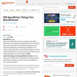 CSS Specificity: Things You Should Know