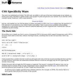 CSS Specificity Wars