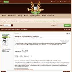 Specifikacija slada iz sladare Maltinex - Bačka Palanka