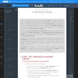 Histoire Spécifique - Cours : La Révolution française