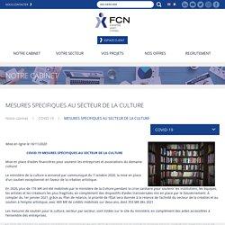 MESURES SPECIFIQUES AU SECTEUR DE LA CULTURE - Groupe FCN - Expertise Comptable et Commissariat aux Comptes