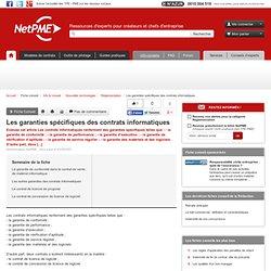 Les garanties spécifiques des contrats informatiques