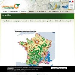 Typologie des campagnes françaises et des espaces à enjeux spécifiques (littoral et montagne)