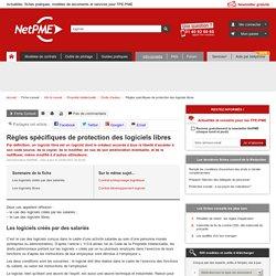 Règles spécifiques de protection des logiciels libres