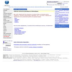 Moteurs de recherche spécifiques et thÈmatiques