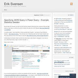 Specifying JSON Query in Power Query – Example Statistics Sweden
