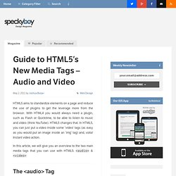 Guide to HTML5′s New Media Tags – Audio and Video