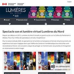 Spectacle son et lumière virtuel Lumières du Nord