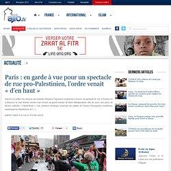 Paris : en garde à vue pour un spectacle de rue pro-Palestinien, l'ordre venait «d'en haut»