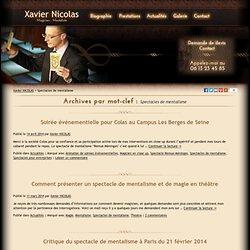 Spectacles De Mentalisme Archives - Xavier NICOLAS - Magicien Mentaliste