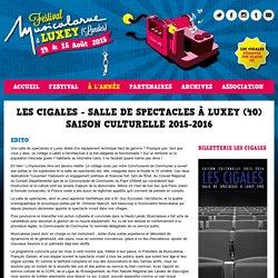 Les Cigales - Salle de Spectacles à Luxey (40) - Festival Musicalarue - Luxey (Landes) - Musique et Arts de la Rue