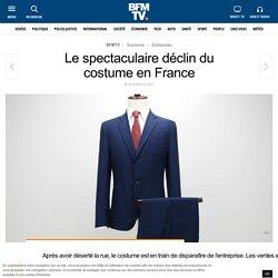 Le spectaculaire déclin du costume en France