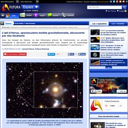 L'œil d'Horus, spectaculaire lentille gravitationnelle, découverte par des étudiants