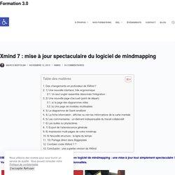 Xmind 7: mise à jour spectaculaire du logiciel de mindmapping – Formation 3.0