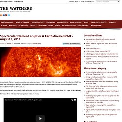 Spectacular filament eruption & Earth directed
