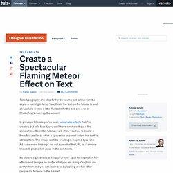 Créer un effet spectaculaire Flaming Meteor sur le texte
