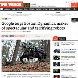 Google buys Boston Dynamics, maker of spectacular and terrifying robots
