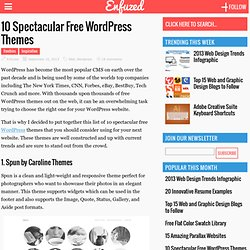 10 Spectacular Free Wordpress Themes